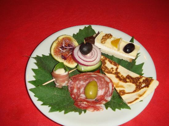 Antipasto at Hotel Astoria