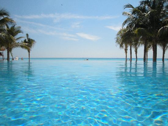 Great Infinity Pool In Front Of Beautiful Beach Picture