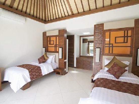 Villa Seriska Bali: Villa Seriska: Twin bedrom with en-suit bathroom