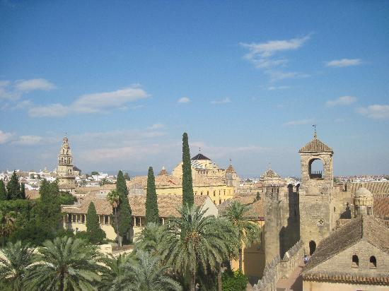 Alcazar de los Reyes Cristianos: View towards the Mezquita