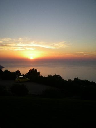 Hotel Le Belvedere : coucher de soleil sur la baie d'Ajjacio