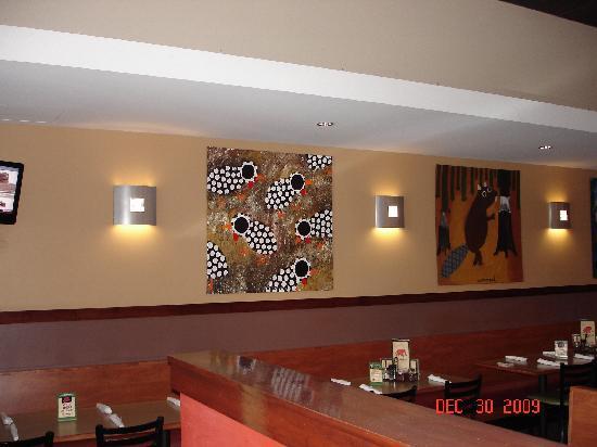 Red Elephant Pizza & Grill : I love the Cornbread Artwork