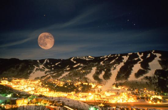 Vail Mountain at Night
