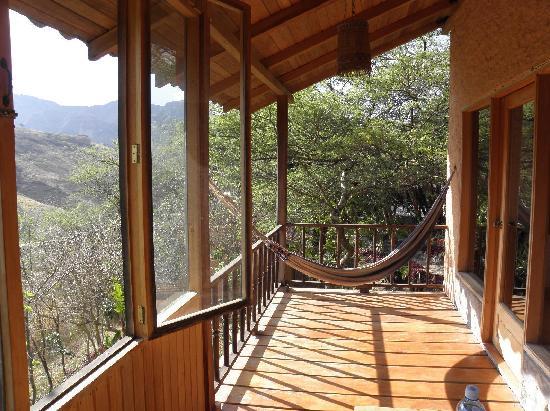 Hosteria Izhcayluma: our balcony