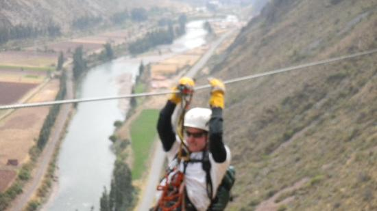 Урубамба, Перу: Riding The Zip Line