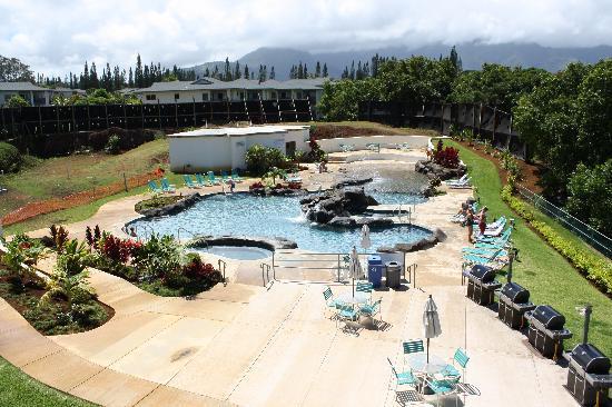 View Of Pool From Balcony Picture Of Club Wyndham Bali Hai Villas Princeville Tripadvisor