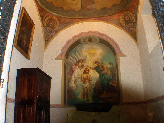 Mission San Gabriel Archangel : The baptism room