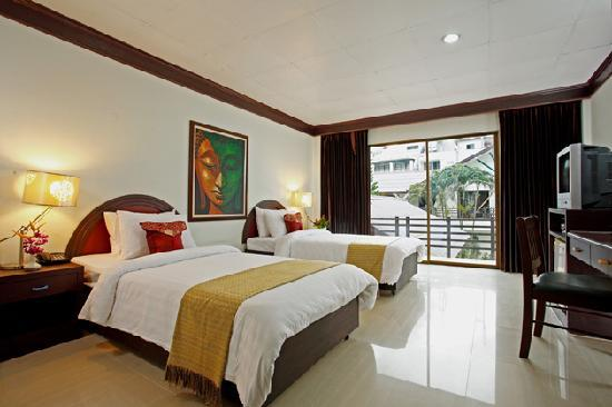 Bamboo Beach Hotel & Spa : Twin room