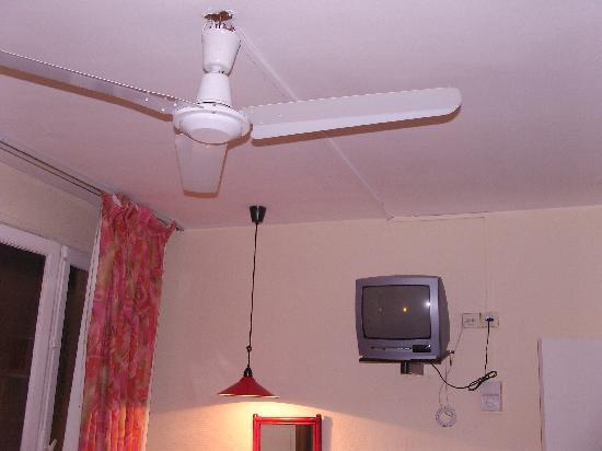 Garden Hôtel : Hotel Garden - dodgy ceiling fan