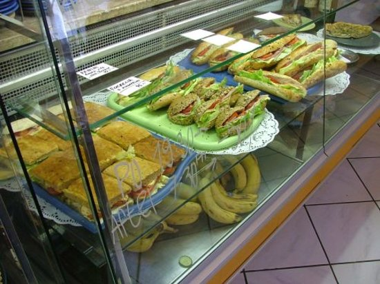 Sandwich display at Cafe 87, Olomouc