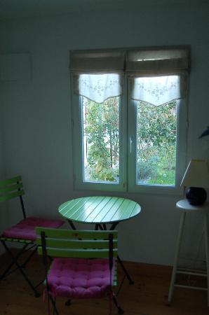 Wissant l'Opale : Le jardin vu de notre fenêtre.