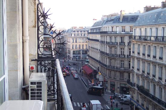 street view from balcony picture of hotel lumen paris tripadvisor. Black Bedroom Furniture Sets. Home Design Ideas