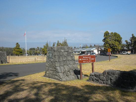 Kilauea Volcano Military Camp: Kilauea Military Camp Entrance