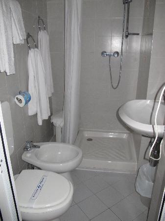 Hotel Agnello D'Oro : Our small bathroom.