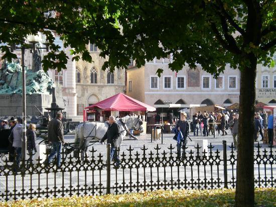 Hotel Cerna Liska : Square from Hotel Front