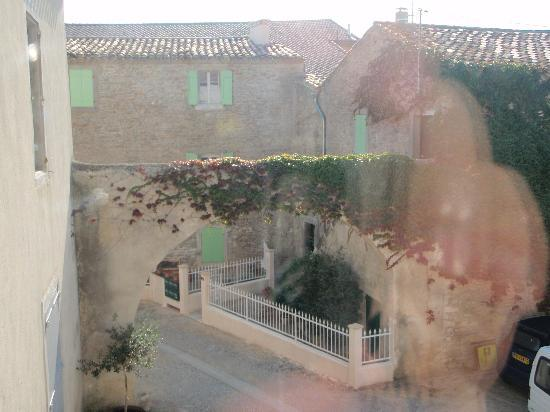 Siran, France: View out of window