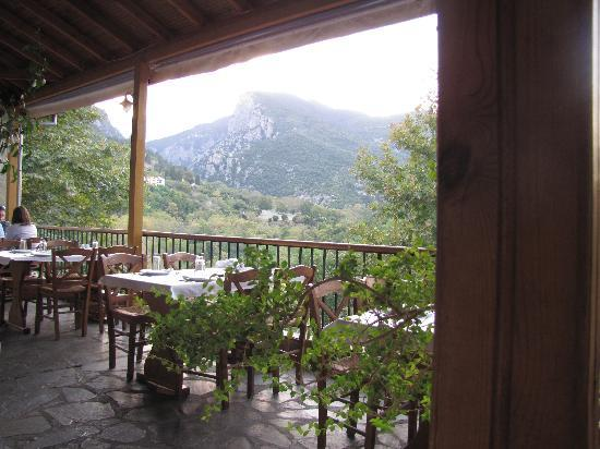 Litochoro, Yunani: view from restaurant