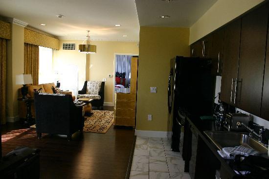 1br presidential suite - living room & sleeper sofa