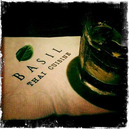 Basil Restaurant: Cocktail Napkin from Basil