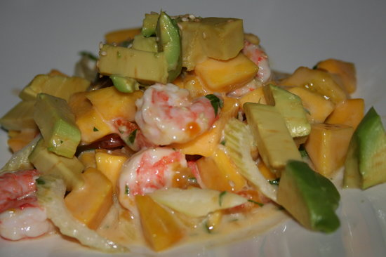 Mangos: Mango, Shrimp, and Avocado Salad