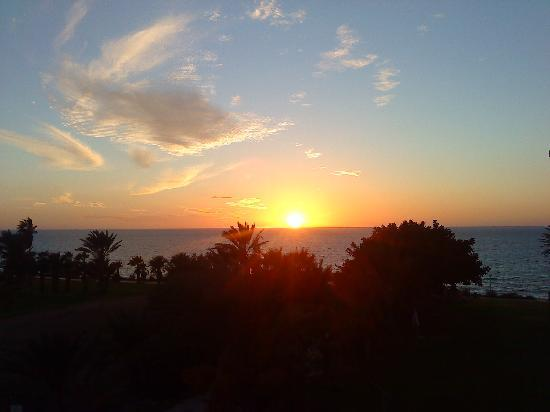 Helios Bay Hotel: sunset from the balcony