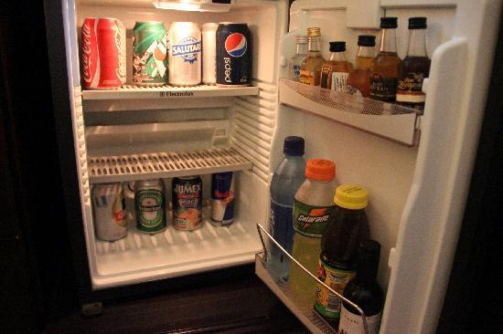 Real InterContinental Guatemala: Fully stocked mini-fridge