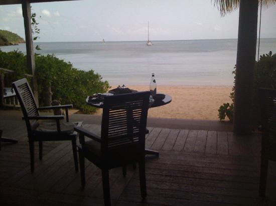 Carlisle Bay Antigua: View from breakfast