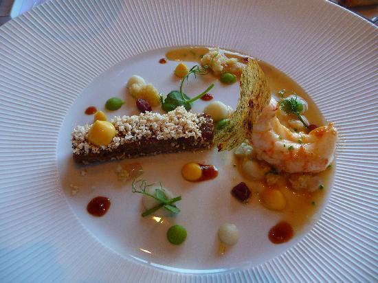 Kruishoutem, Bélgica: Langoustine et joue de porc