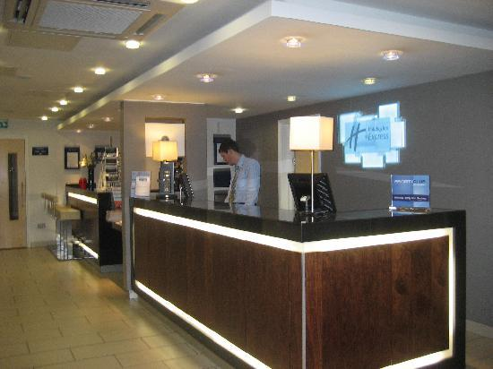 Reception desk and bar.