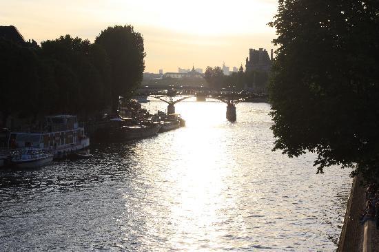 Parijs, Frankrijk: atardecer