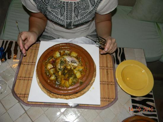 Riad Baba Ali: chicken Tajine