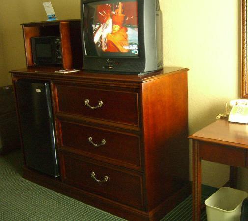 Baymont Inn & Suites Cherokee Smoky Mountains: TV, fridge & microwave