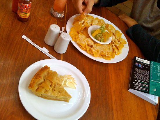 Magic Bean Quito - apple pie and nachos