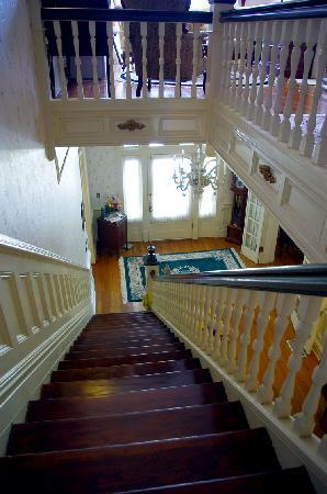 Stanford Inn: the lovely interior--stairs made famous in My Girl