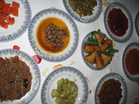 Dar Yacout: 10 Moroccan salads started the meal