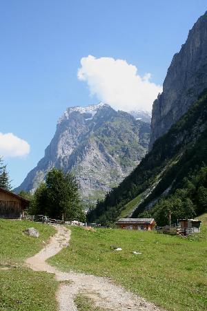 Grindelwald, Switzerland: Pfingstegg mit Wetterhorn