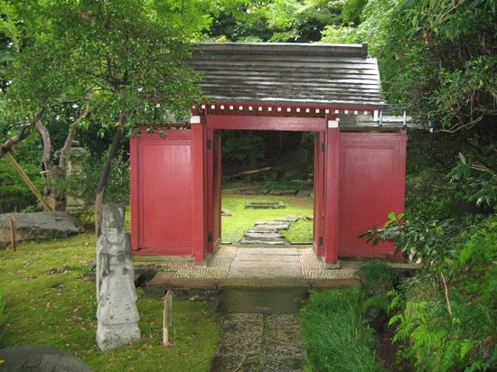 Setagaya, Japan: Red gate of Gotoh Museum