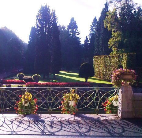 Liege, Belgium: Castle of Jehay, Belgium (view on the gardens from the residence)