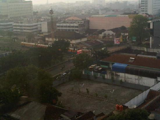 Hilton Bandung: train view from window (hotel is near station)