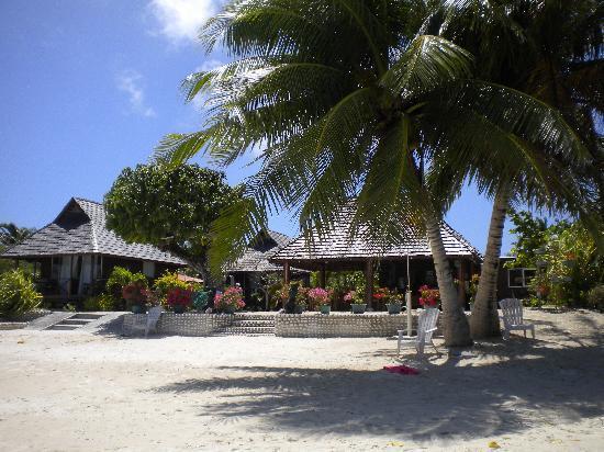 Pension Papahani: ..il nostro bungalow sulla spiaggia e accanto il ristorante