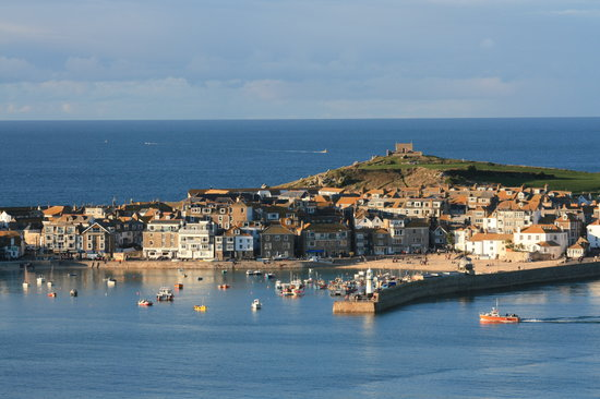 St. Ives Harbour Hotel & Spa: St Ives from just above the hotel