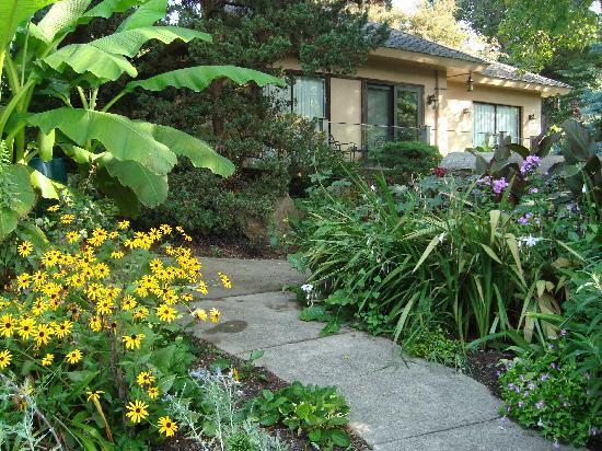Alpenhof Bed and Breakfast: gardens