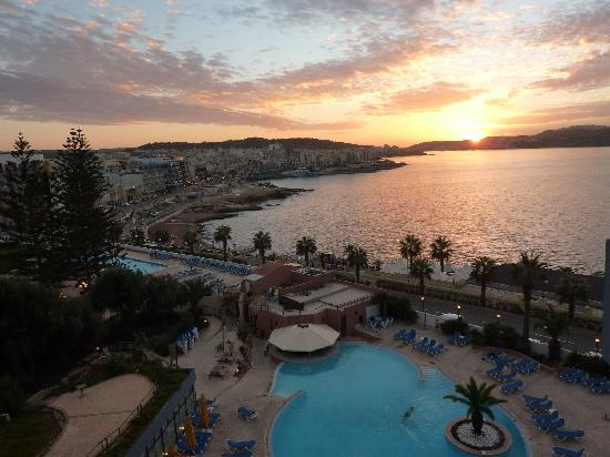 Dolmen Hotel Malta: view from our room