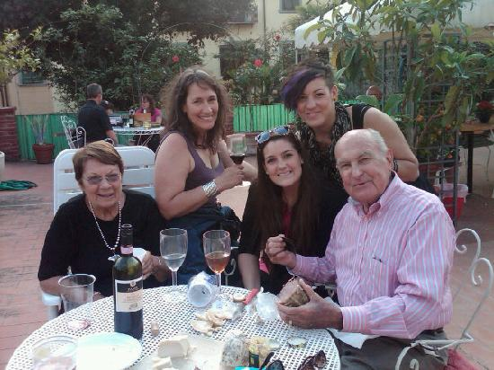 Hotel Il Bargellino: My family and I on the Terrace with wine and appetizers!