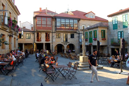 Pontevedra, Espanha: Praza da leña