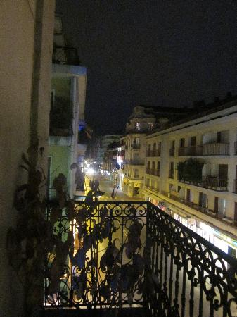 Atipik Hôtel Alexandra : View from our balcony at night.