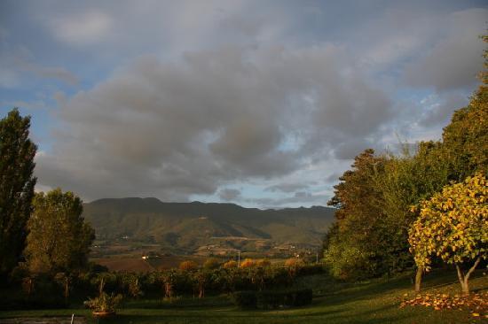 Matelica, Italie : vista dal giardino della Villa