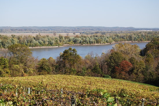 Hermann, MO: View from OakGlenn Winery