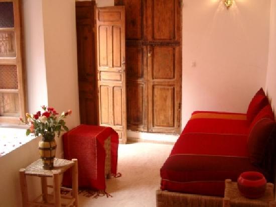 Dar Eden Marrakech medina: dans la chambre rouge