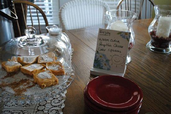 16 Beach Street Bed and Breakfast: Some scumptous treats!